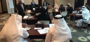 people reading sample of meeting presentation
