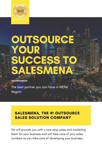 SalesMENA pricing packages Dubai