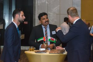 Welsh trade event management reception