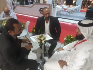 side of potential investors discussing business