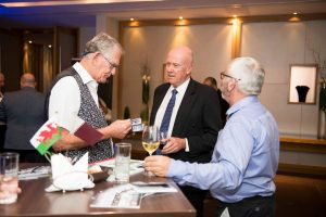 contributors at welsh exports reception event