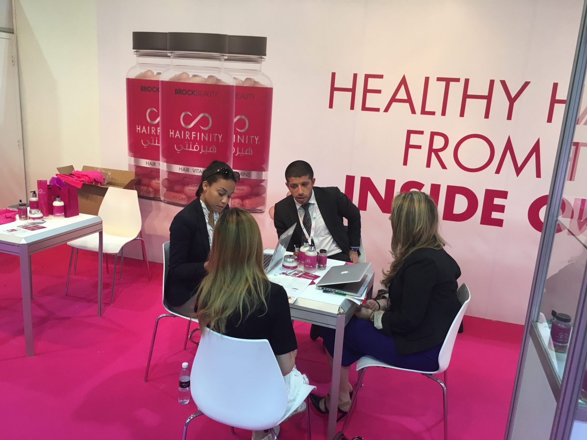 Sales consultancy Dubai hairfinity exhibition