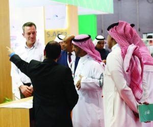 visitors explained some details by participants