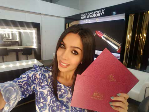 samira olfat influencer for beautyworld team exhibition