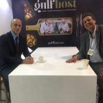 gulf host venue zone with visitors talking