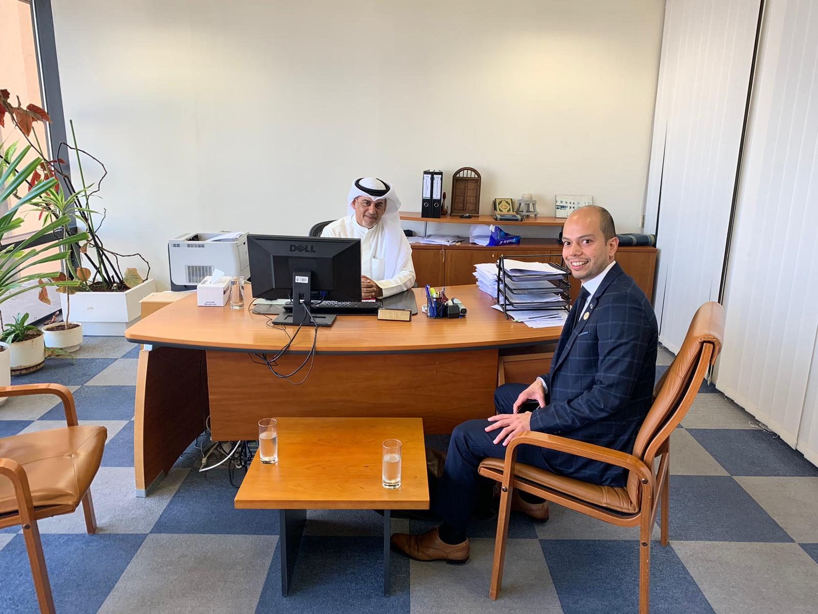 Mr Velasco with The Industrial Bank of Kuwait