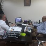 mr trevor meeting with gmk international